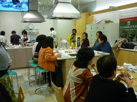 博多阪急百貨店での「種子島の安納いもを使った料理教室」
